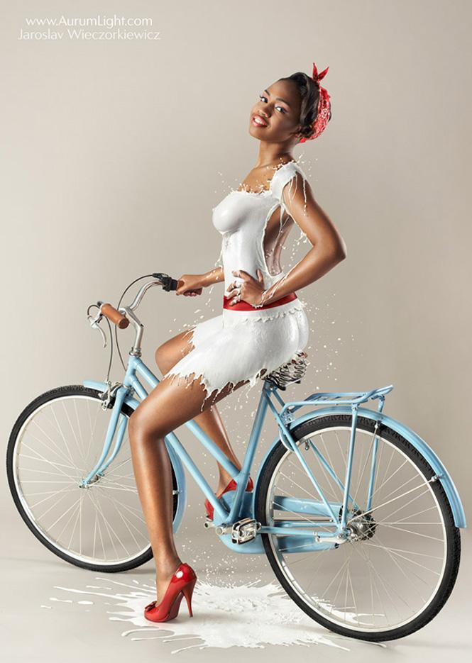 milky pin ups bike