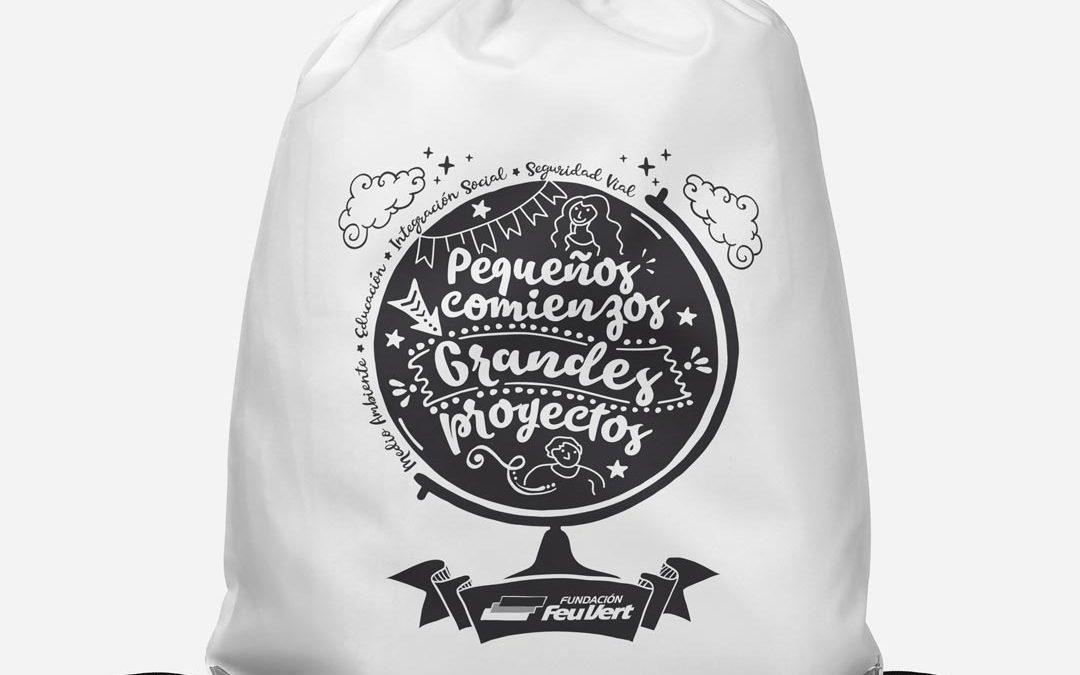 Packaging Mochilas Personalizadas Fundación Feu vert