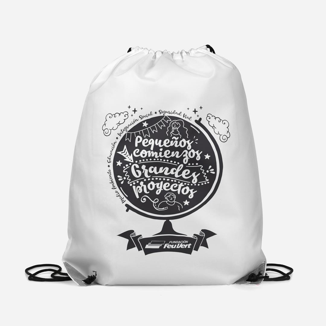packaging mochilas personalizadas fundacion feu vert