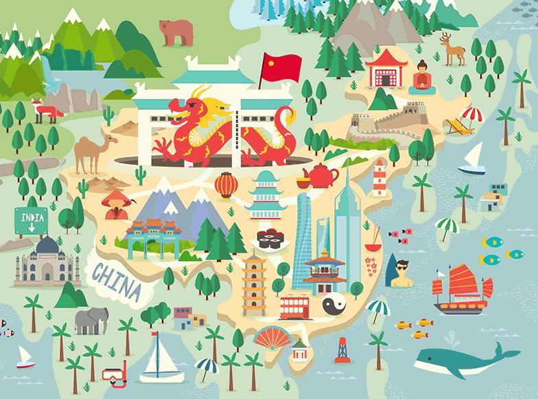 diseño grafico calendario mundirama ilustración