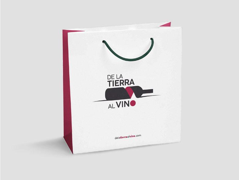 imagen corporativa bolsas de la tierra al vino