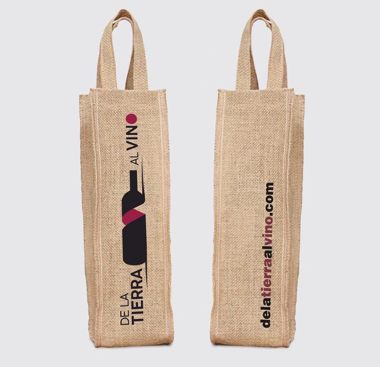 imagen corporativa bolsas botellas de la tierra al vino