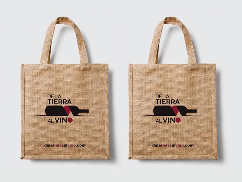 imagen corporativa bolsas yute de la tierra al vino