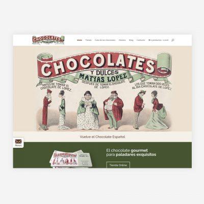 Diseño Web Chocolates Matías López
