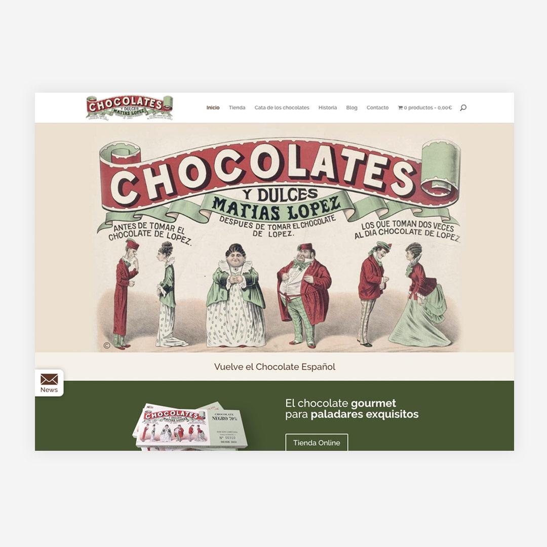 diseno web responsive Chocolates Matías López