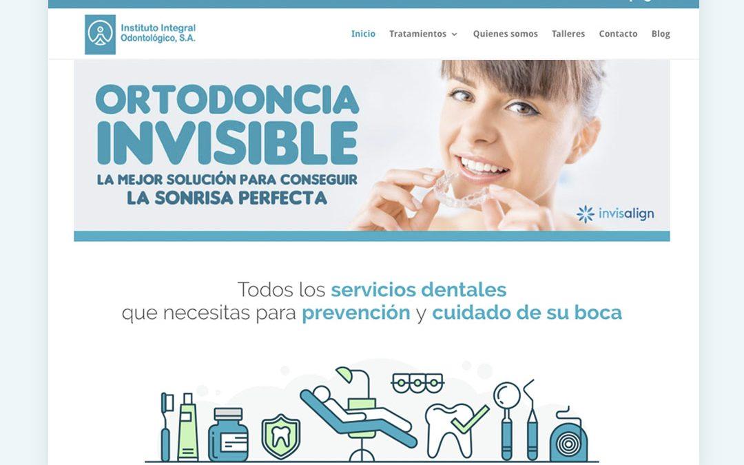 Diseño Web Instituto Integral Odontológico