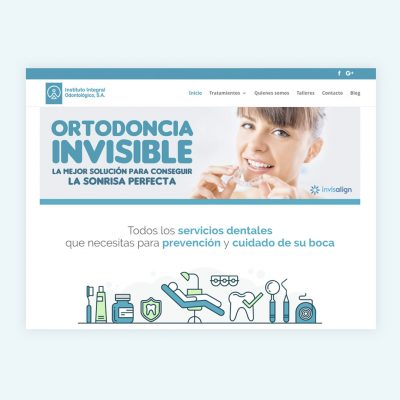 Diseño Web Instituto Integral Odontológico