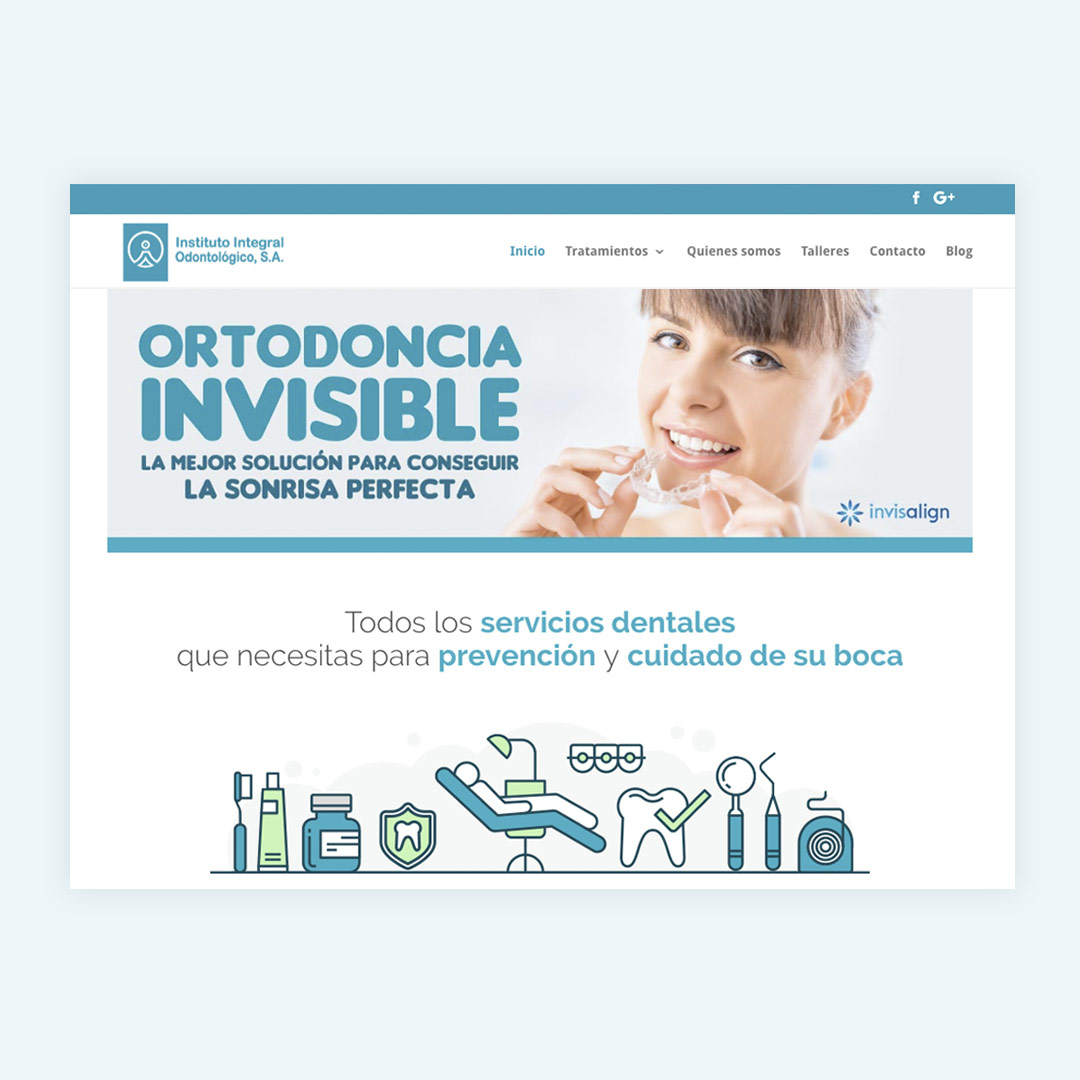 diseno web responsive instituto integral odontologico