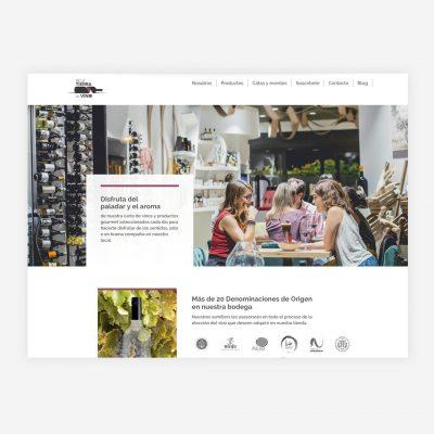 Diseño Web De La Tierra al Vino