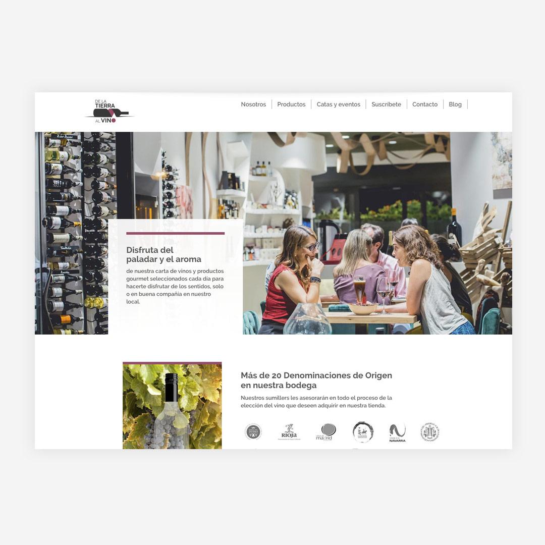diseno web responsive de la tierra al vino
