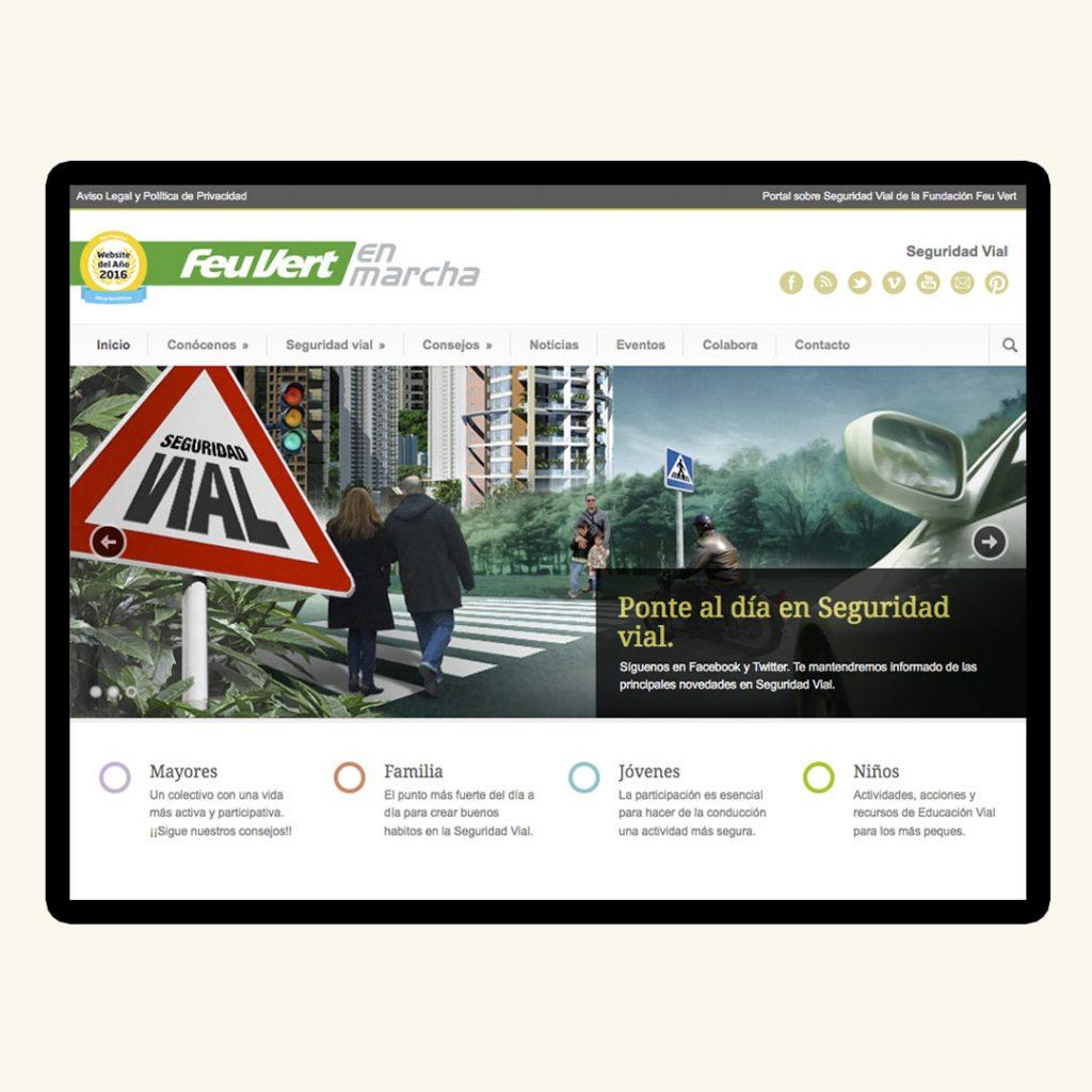 Diseño Web Feu Vert en Marcha