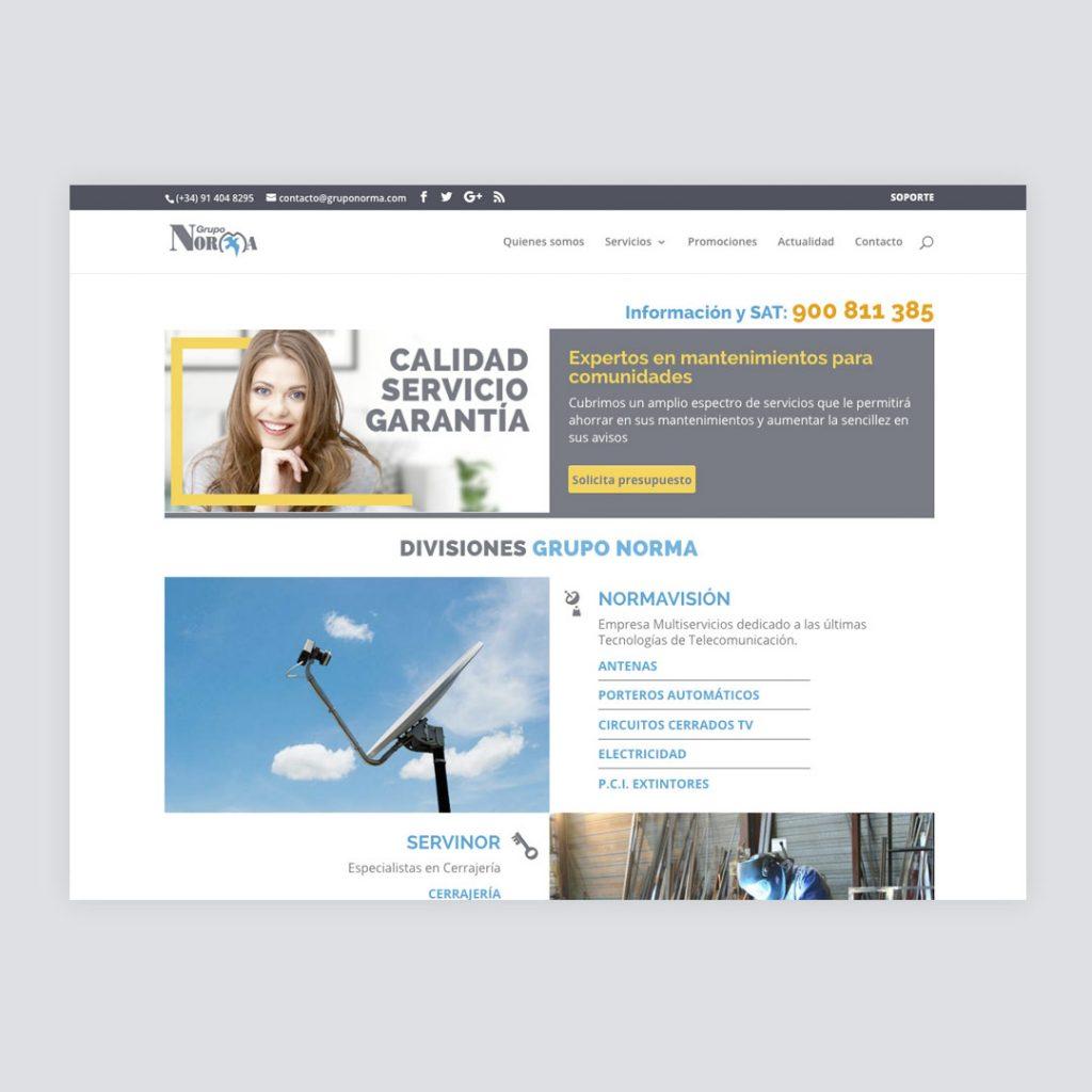 Diseño Web Grupo Norma