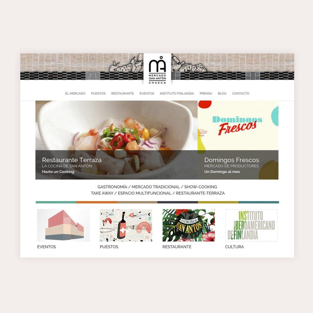 Diseño Web Mercado de San Antón
