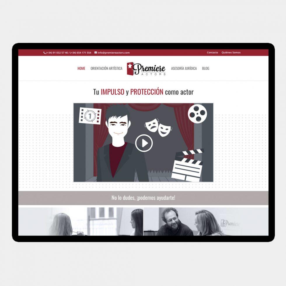 Diseño Web Premiere Actors