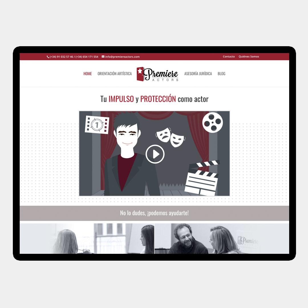 diseno web responsive premiere actors