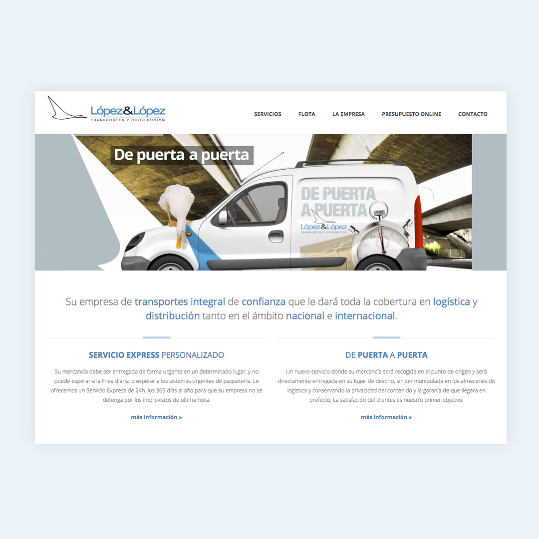 diseno web responsive transportes lopez lopez