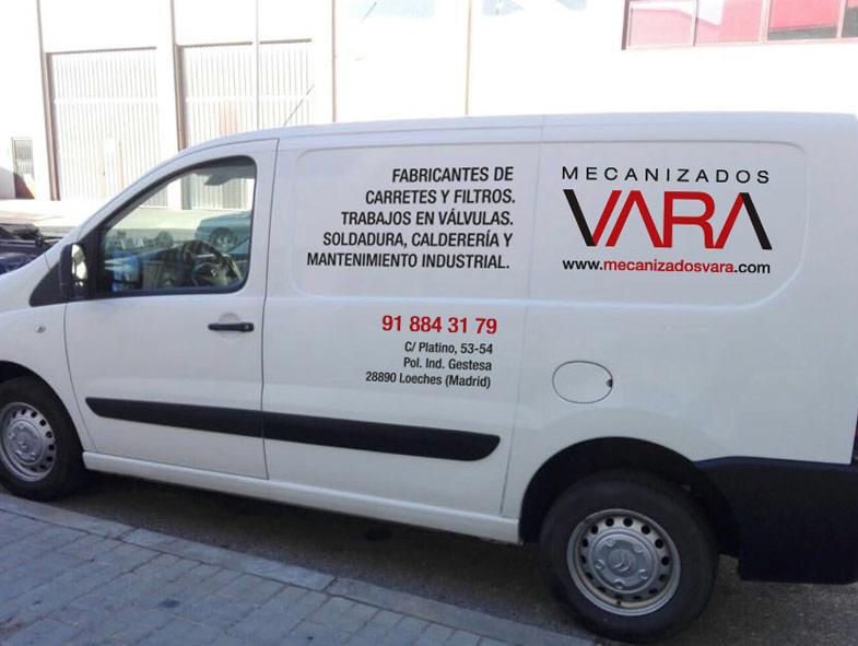 imagen corporativa furgoneta mecanizados vara
