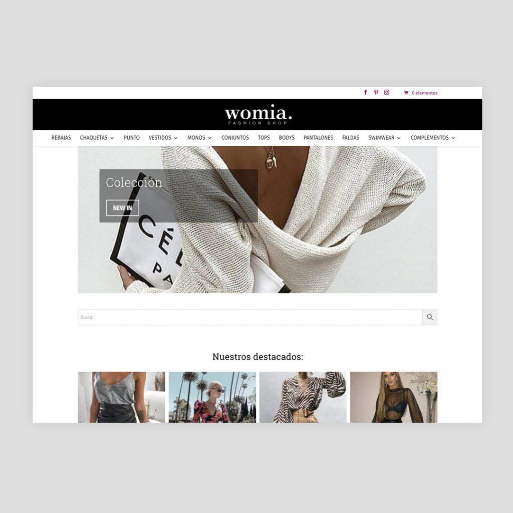 Diseño Web Womia