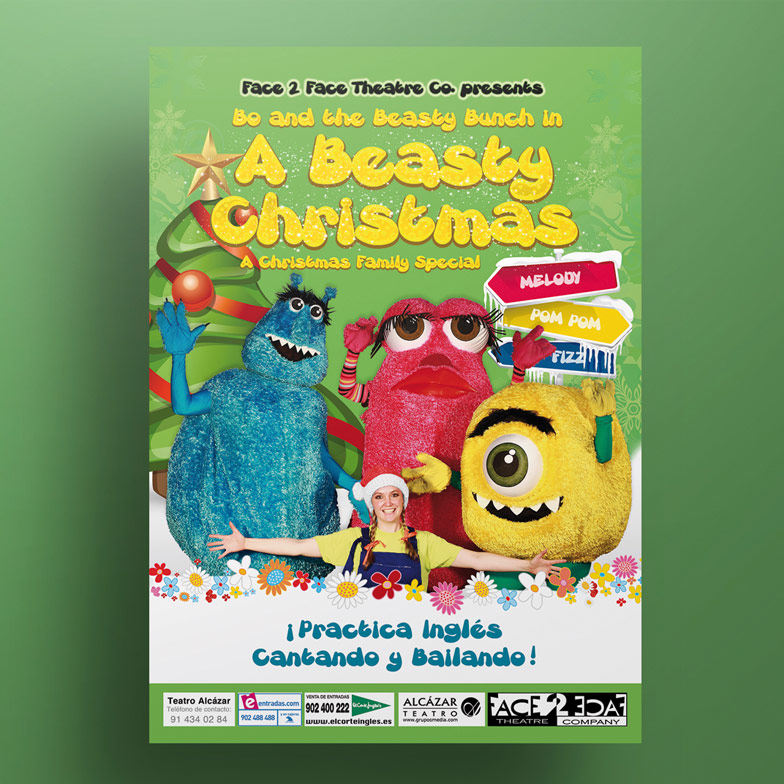 diseño grafico cartel a beatsy christmas