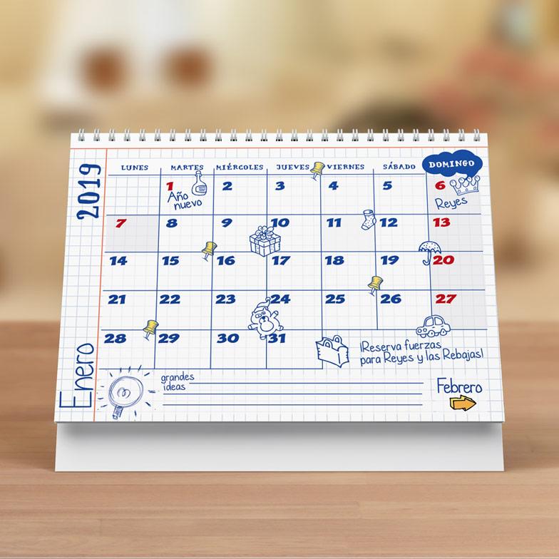 diseño grafico calendario mundirama fechas