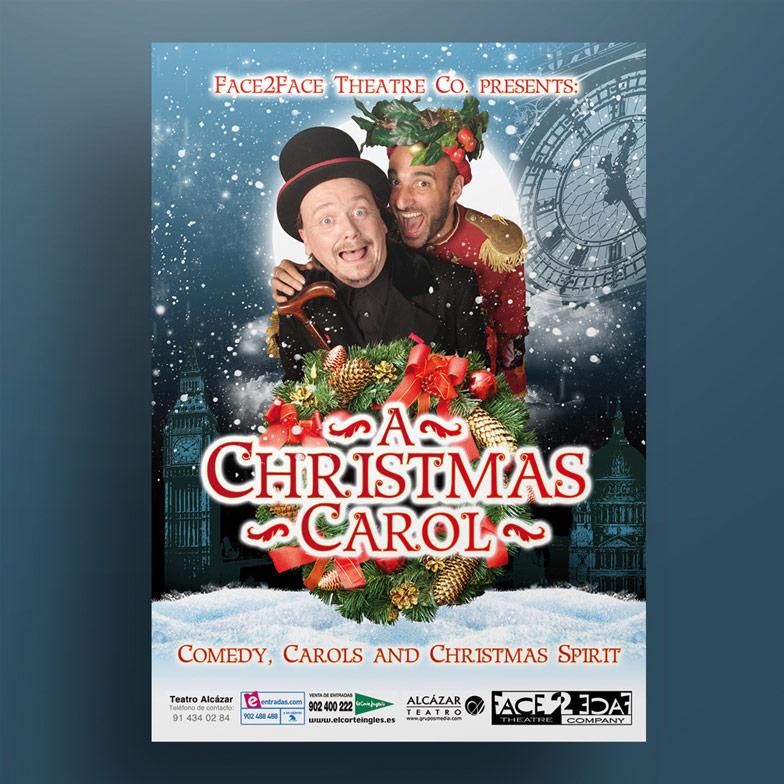 diseño grafico cartel a christmas carol