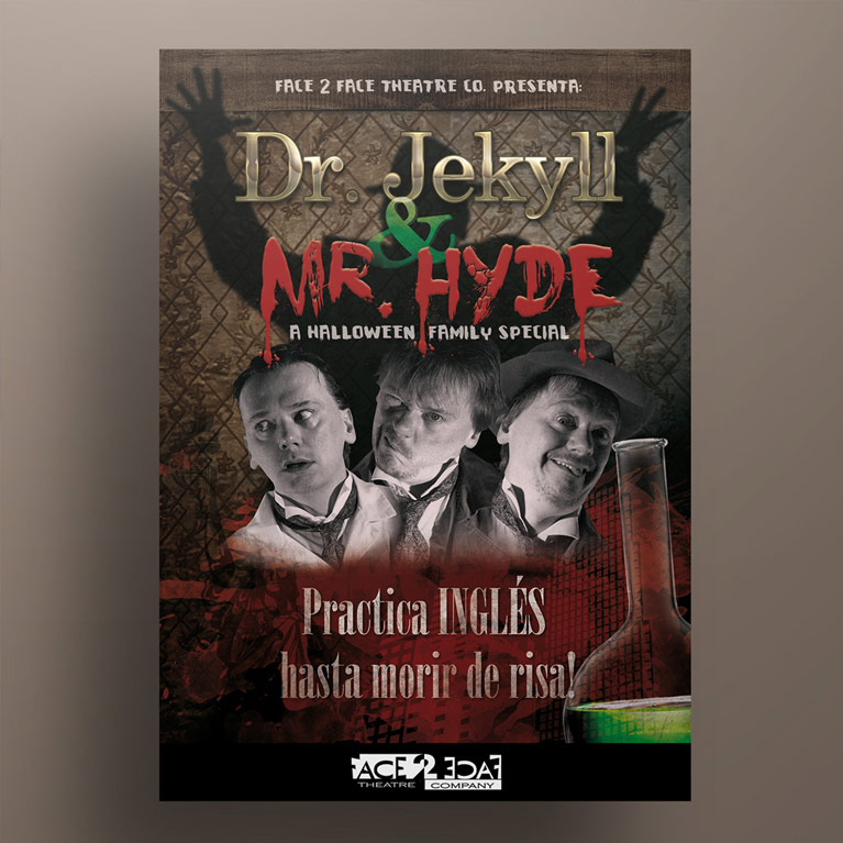 diseño grafico cartel dr jekyll mr hyde