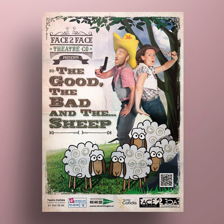 diseño grafico cartel the good, the bad and the sheep