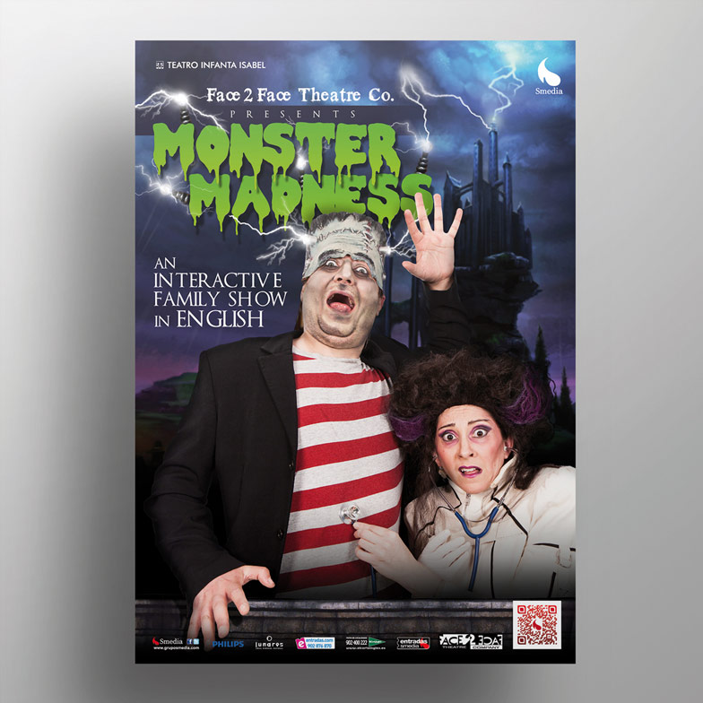 diseño grafico cartel monster madness