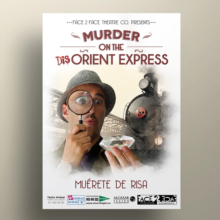 diseño grafico cartel murder on the disorient express