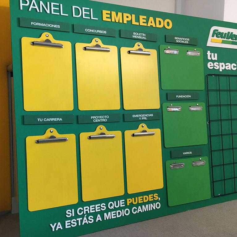 produccion panel del empleado feu vert