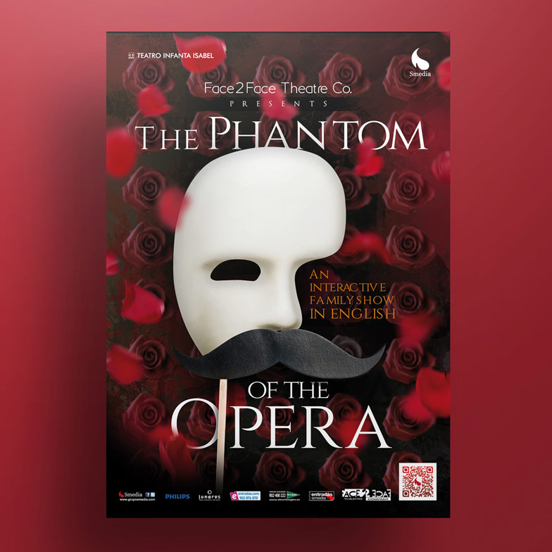 diseño grafico cartel the phantom of the opera