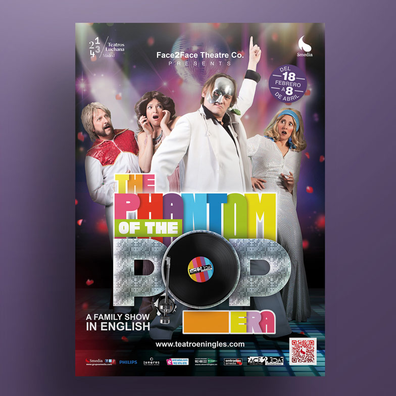 diseño grafico cartel the phantom of the opera of the pop era
