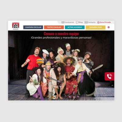 Diseño Web en Madrid, Face 2 Face Teatro en Inglés