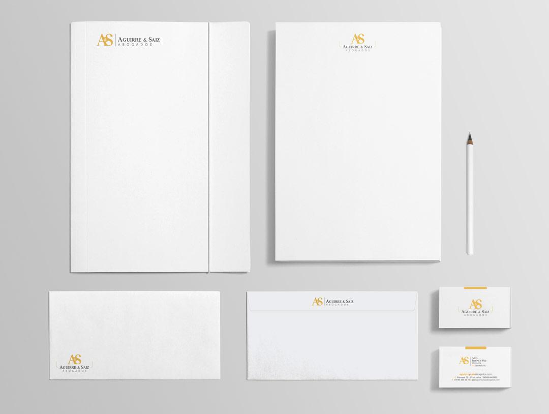 imagen corporativa papeleria coporativa aguirre & saiz