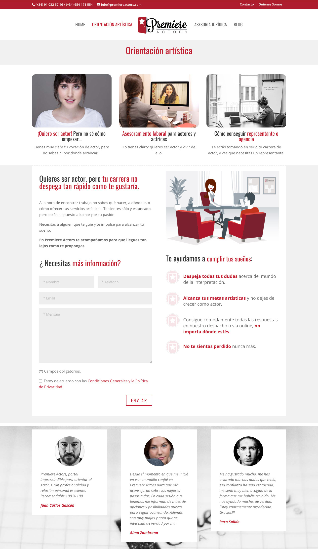 diseno web responsive seccion premiere actors