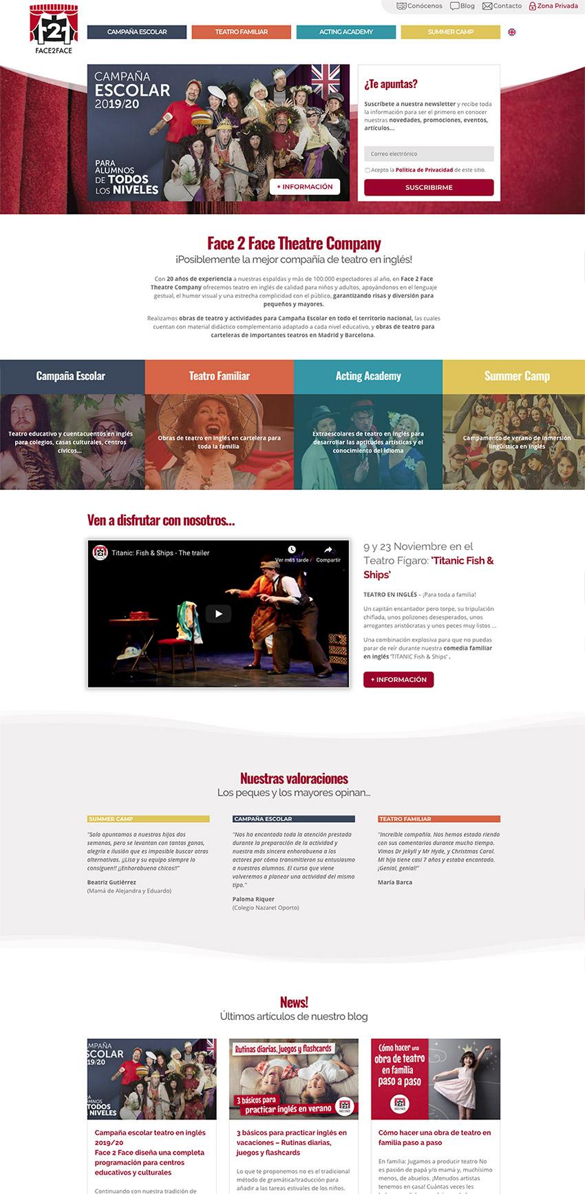 diseno web home face 2 face