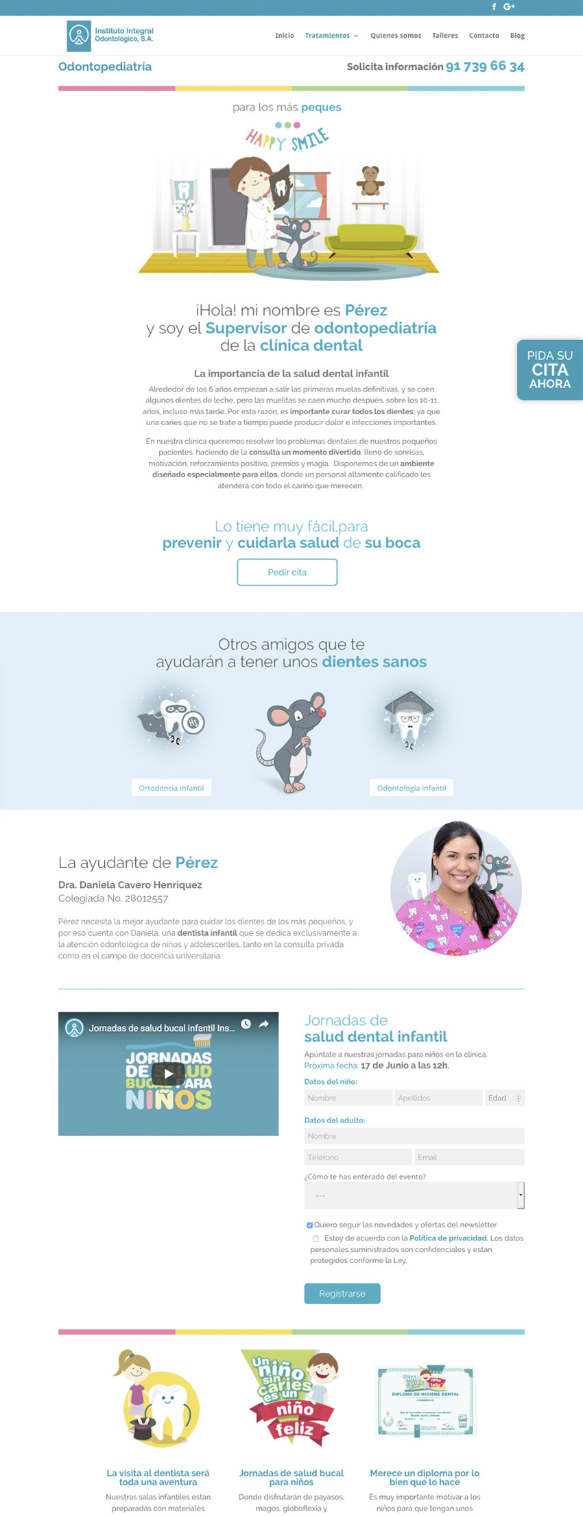 diseno web seccion instituto integral odontologico