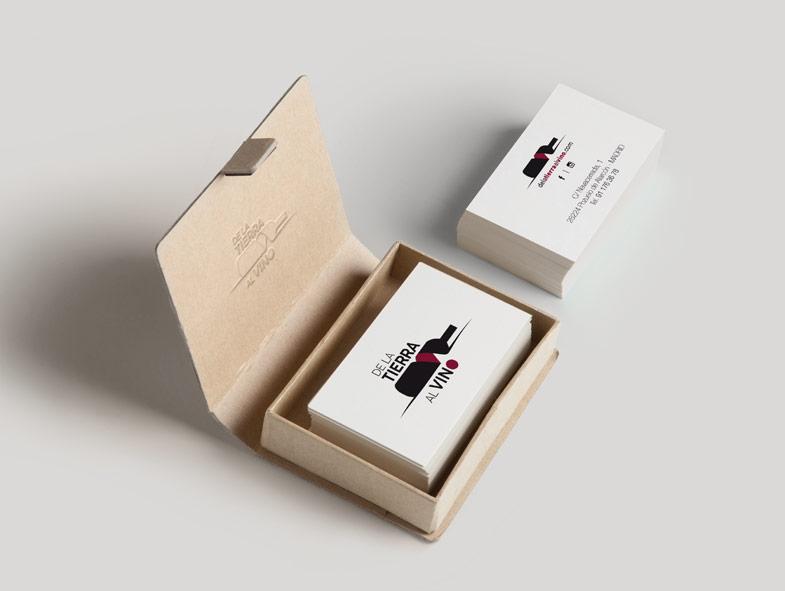 imagen corporativa tarjetas de la tierra al vino