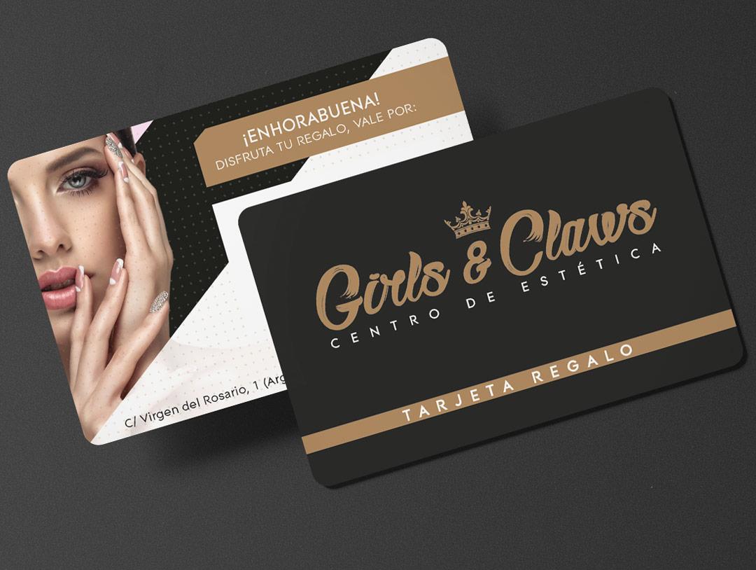 imagen corporativa tarjetas girls claws