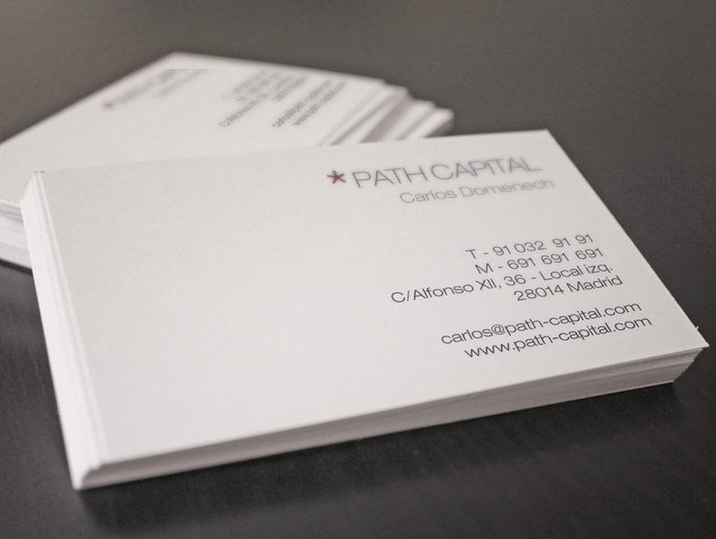 imagen corporativa tarjetas path capital