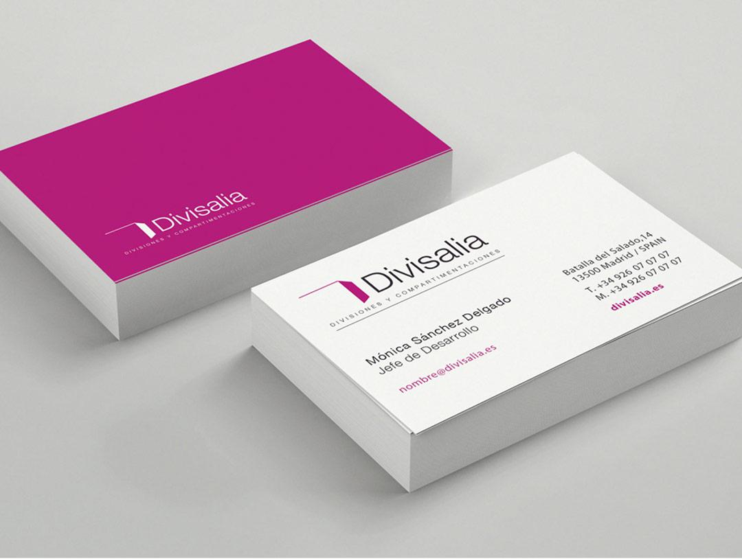 imagen corporativa tarjetas de visita divisalia