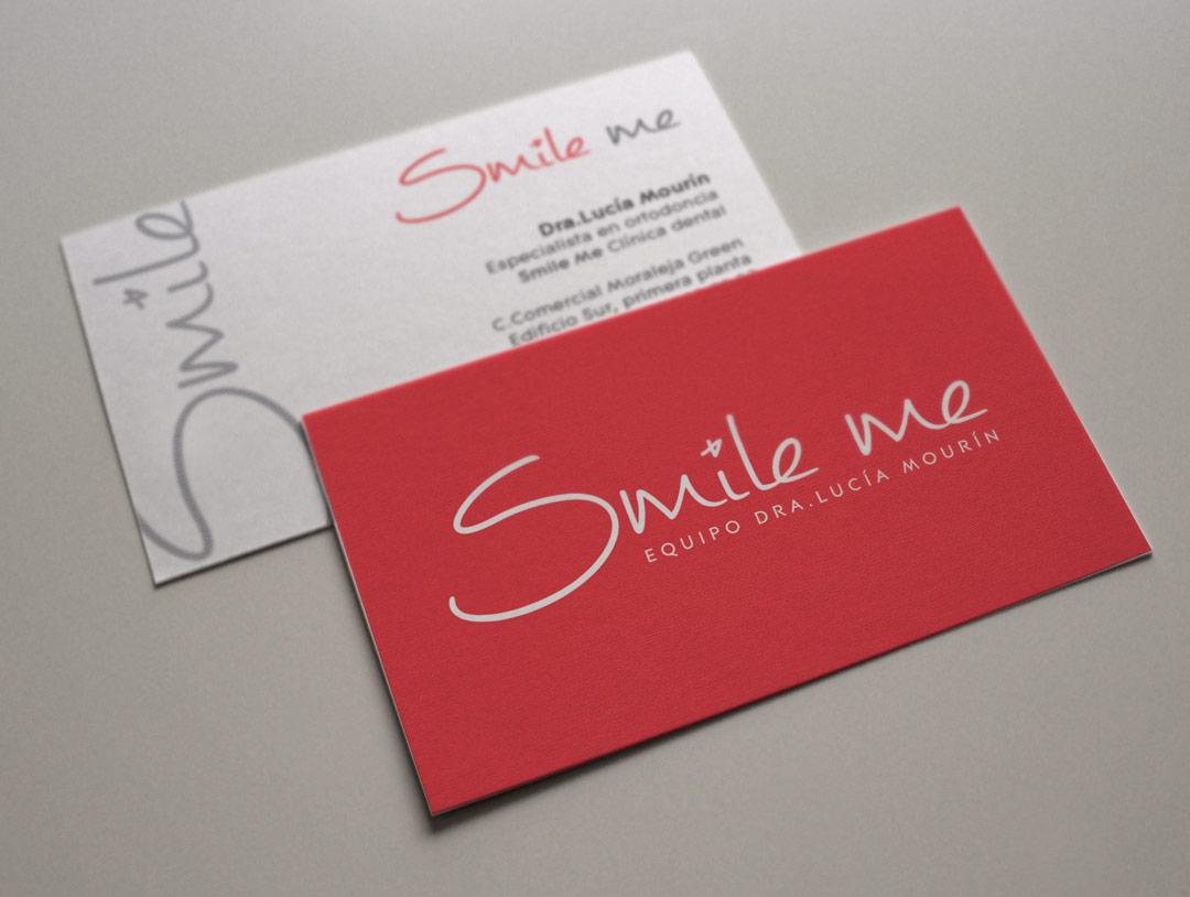 imagen corporativa tarjetas smile me