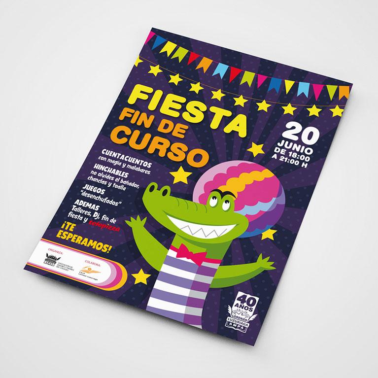 diseño grafico carteles colegio lorenzo luzuriaga