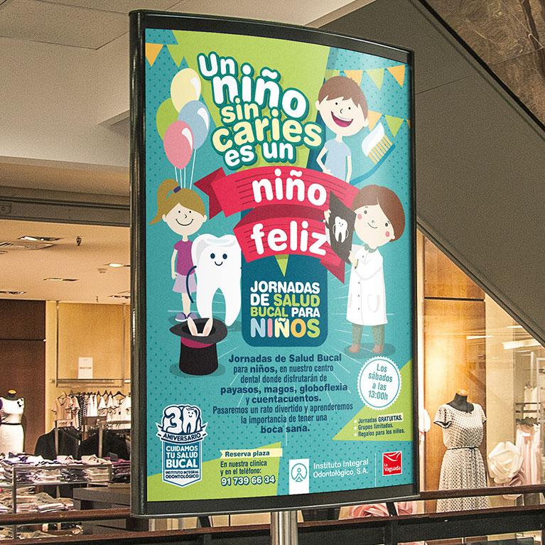 diseño grafico cartel jornadas de salud bucal para niños