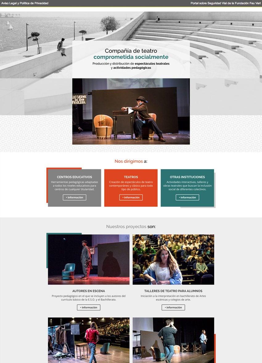 diseno web responsive kachumbambe teatro