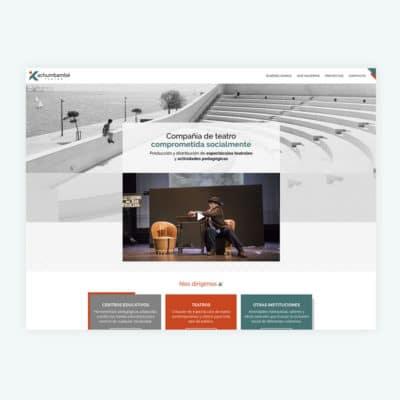 Diseño Web en Madrid Kachumbambé Teatro