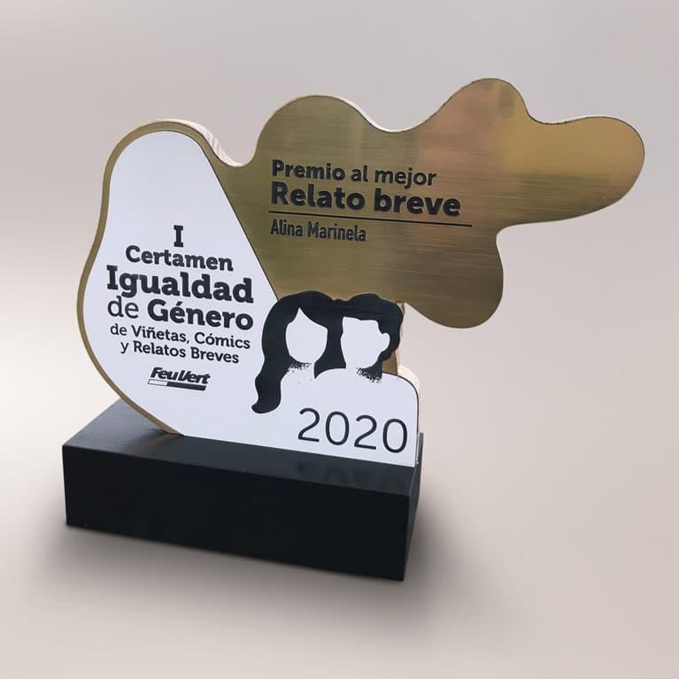 producción del trofeo del I certamen de igualdad de género de feu vert
