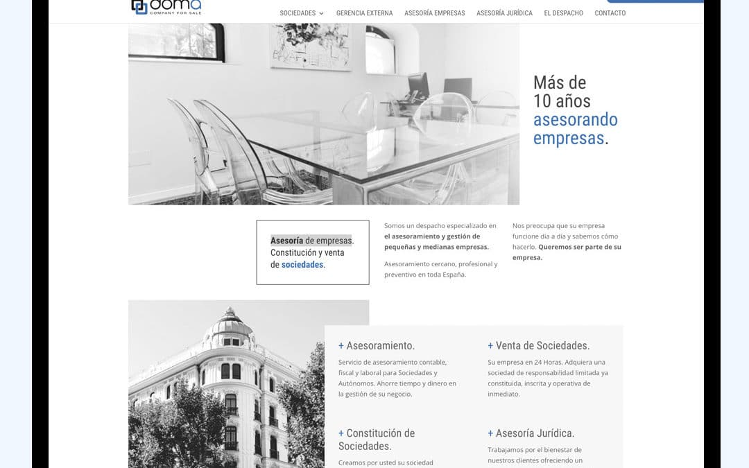 Diseño Web Doma Company for Sale