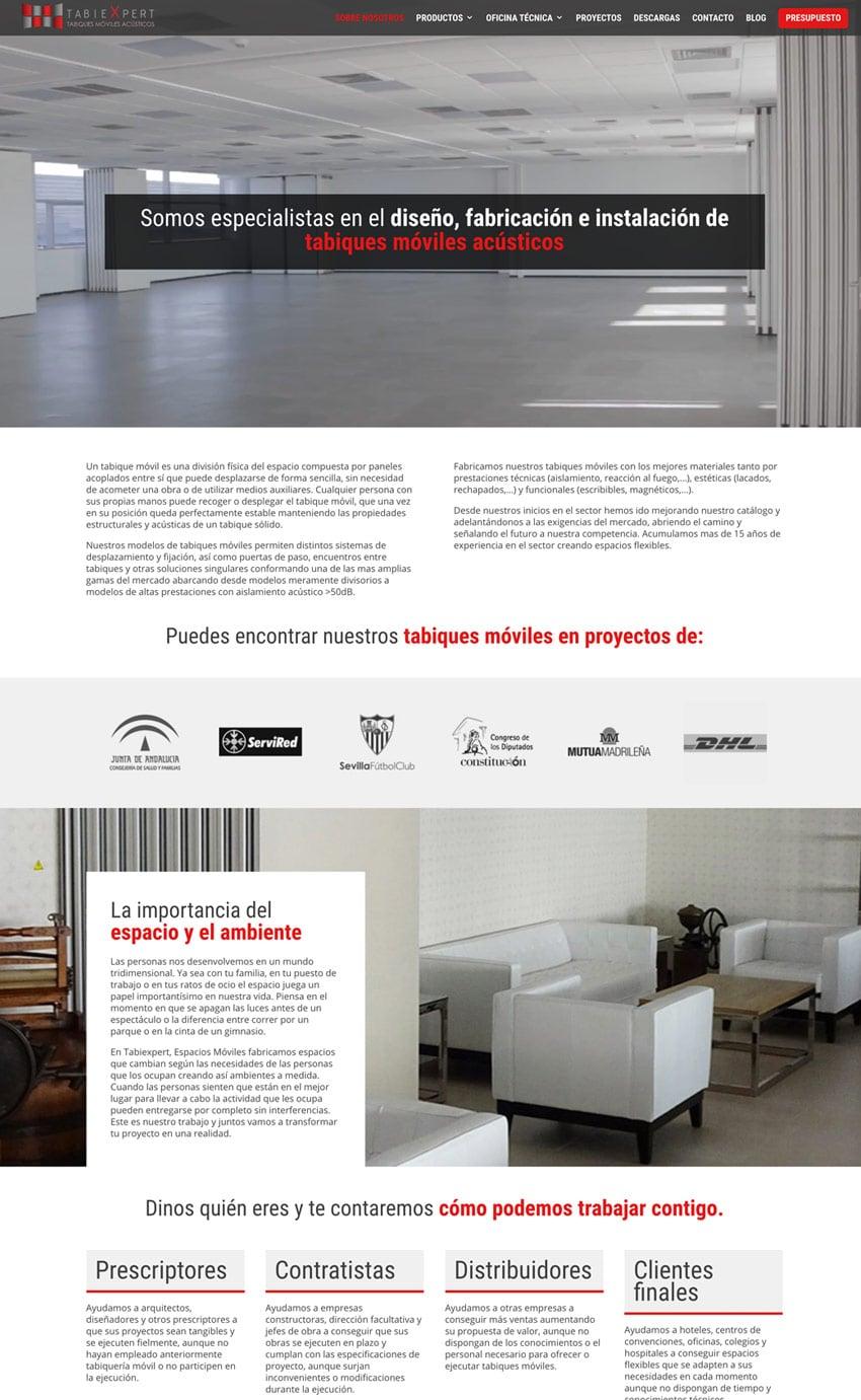 Diseño Web Tabiexpert Tabiques Móviles