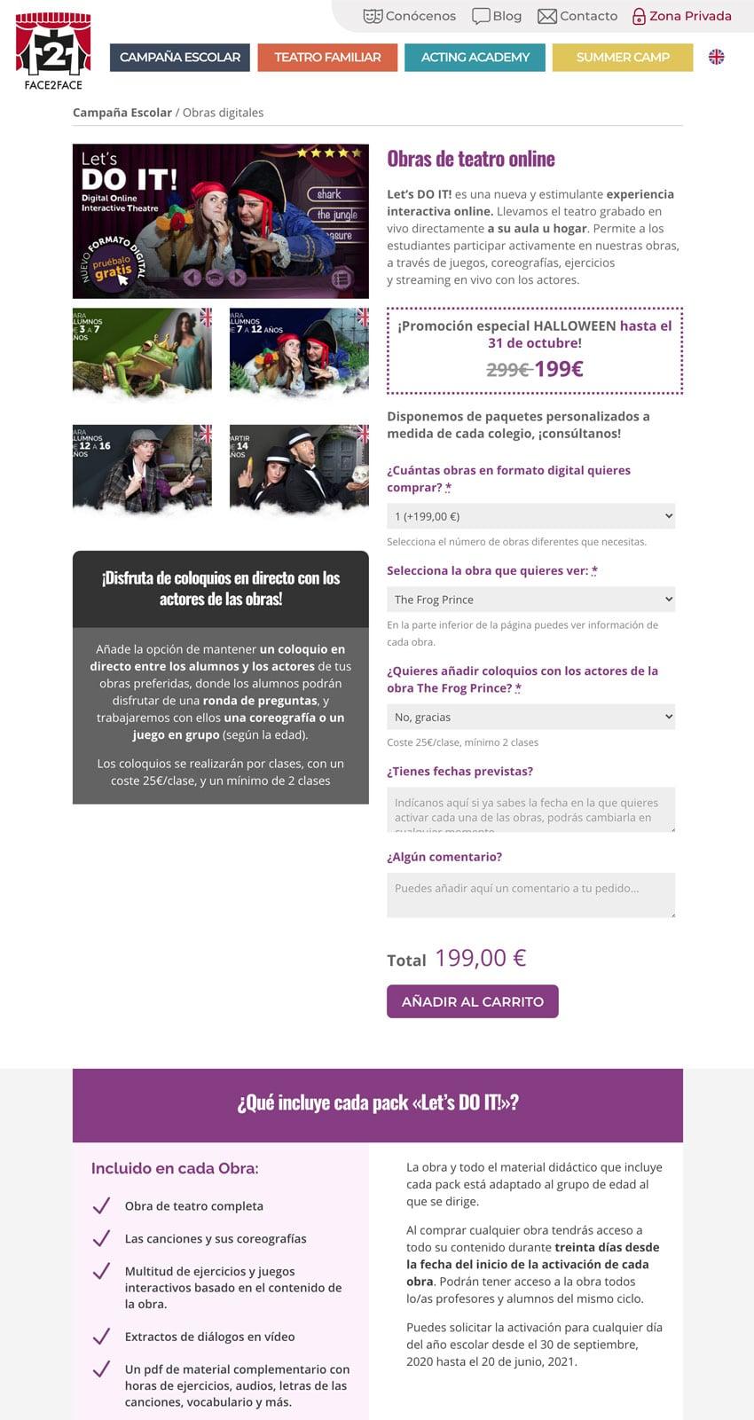 Diseño web obras de teatro digitales